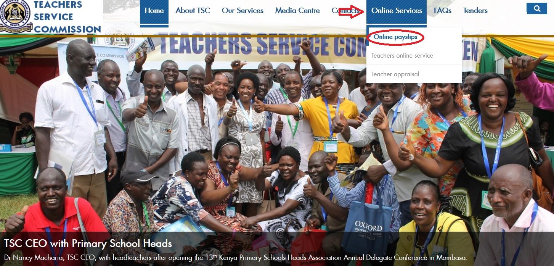 tsc go ke Online Payslip For Teachers Kenya : Service